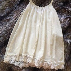 Tobi White Lace Shift Dress